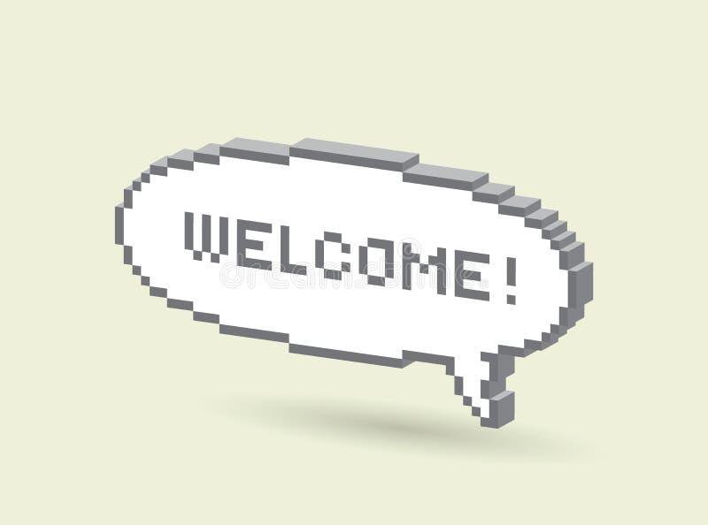 Wellcome! imagens de stock
