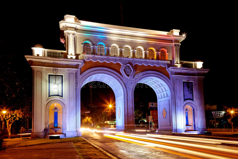 Wellcome nach in Guadalajara stockbilder