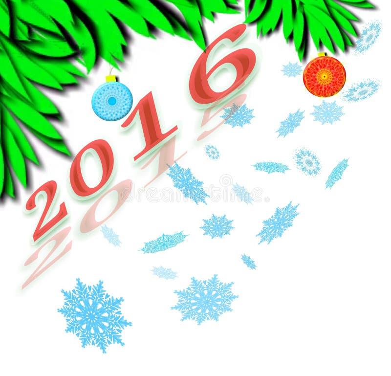 Wellcome nieuw jaar royalty-vrije stock foto