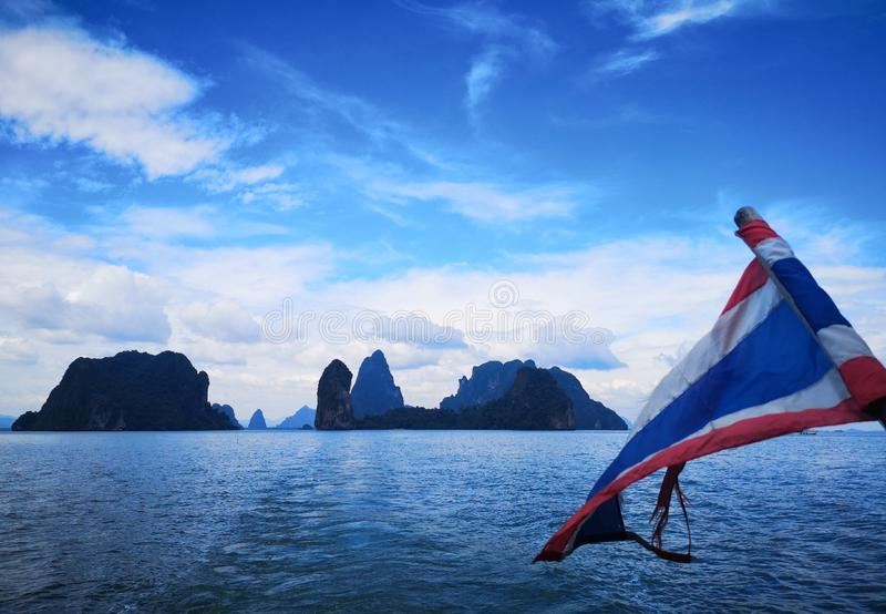 Wellcome to Thailand. Phang Nga Bay, Thailand,.Sunny, cloudy or rainy: Phang Nga wears a different dress for each occasion.nYou saw them in movies, even in Star royalty free stock photo