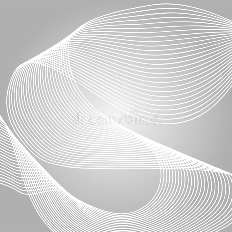 Welle der vielen farbigen Linien Abstrakte gewellte Streifen auf einem weißen Hintergrund lokalisiert Kreative Linie Kunst Vektor vektor abbildung