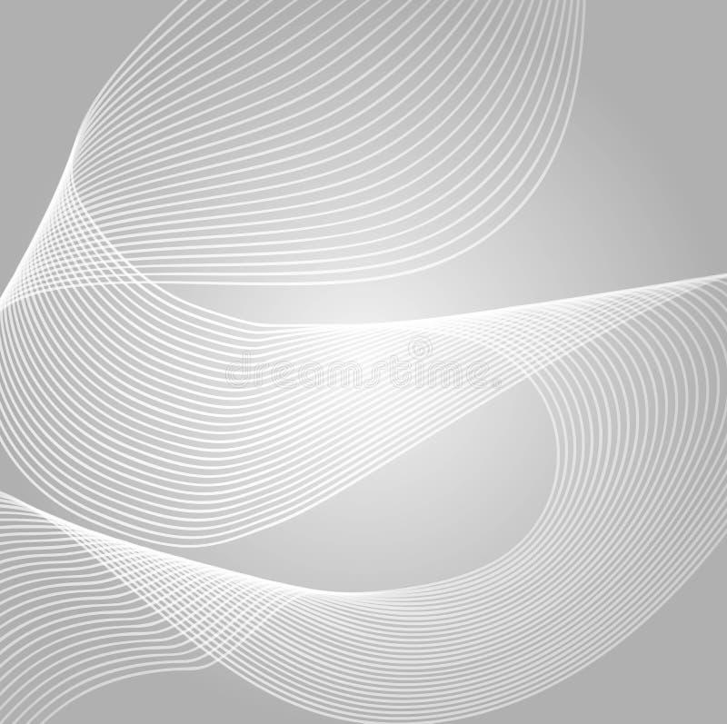 Welle der vielen farbigen Linien Abstrakte gewellte Streifen auf einem weißen Hintergrund lokalisiert Kreative Linie Kunst Vektor stock abbildung