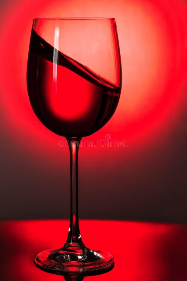 Welle des Weins in einem Glas lizenzfreie stockfotos
