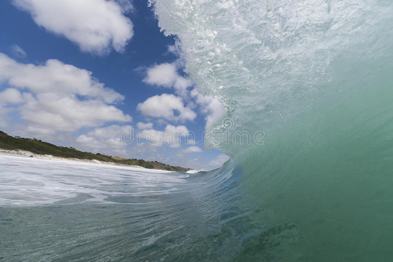 Welle am Rarawa Strand stockfoto