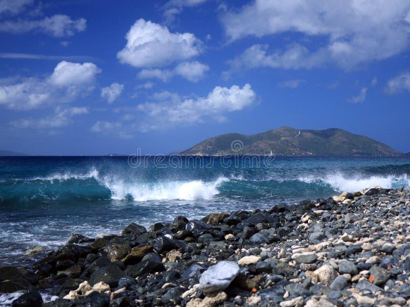 Welle in Tortola Insel lizenzfreies stockfoto