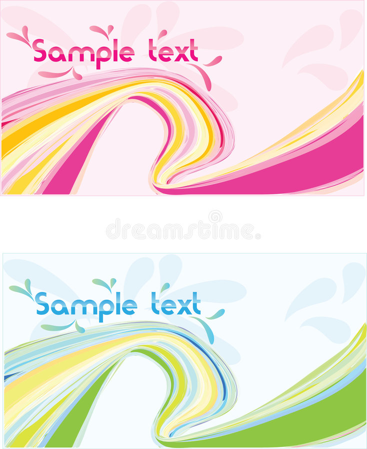 Wellen-Auslegungfahne des Vektor zwei abstrakte lizenzfreie abbildung