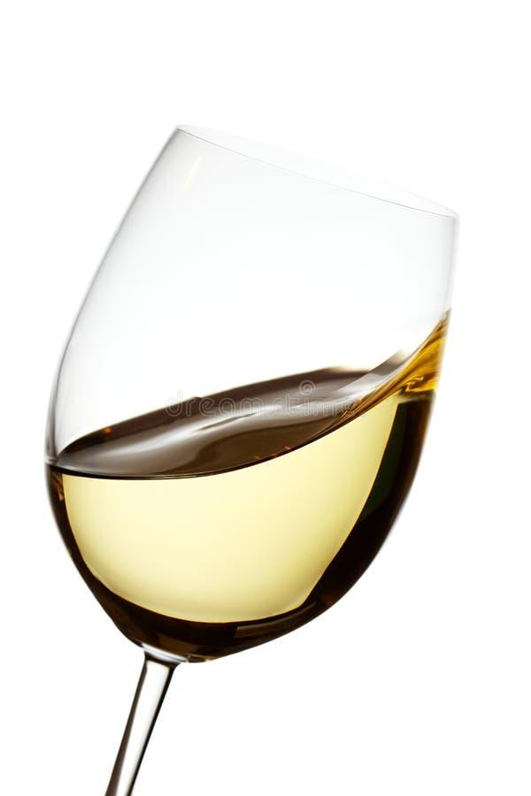 Wellen des weißen Weins stockfoto