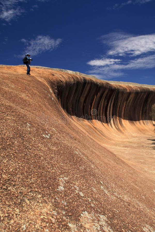 Wellen-Felsen in Westaustralien lizenzfreies stockbild
