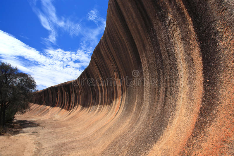 Wellen-Felsen in Westaustralien lizenzfreie stockfotos