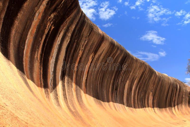 Wellen-Felsen in Westaustralien stockbild