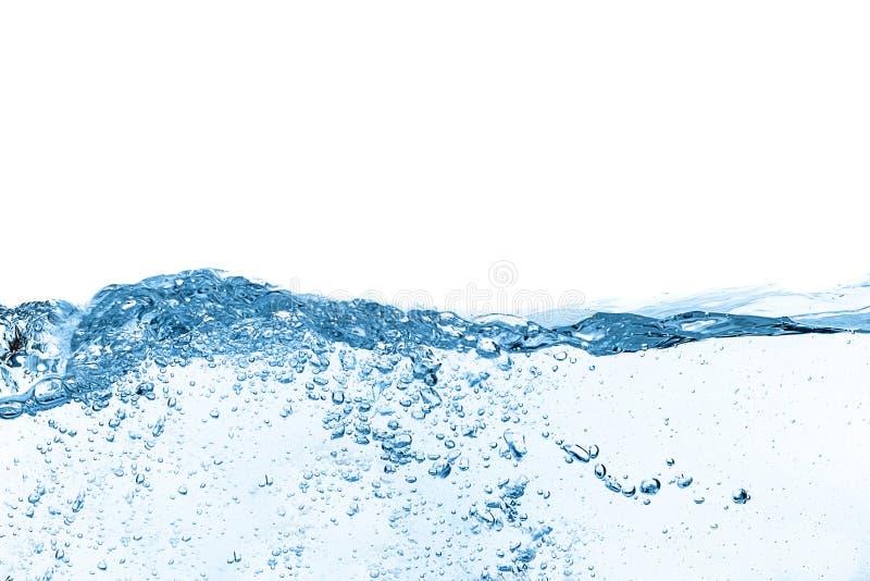 Wellen-Zusammenfassungshintergrund des blauen Wassers stockbild