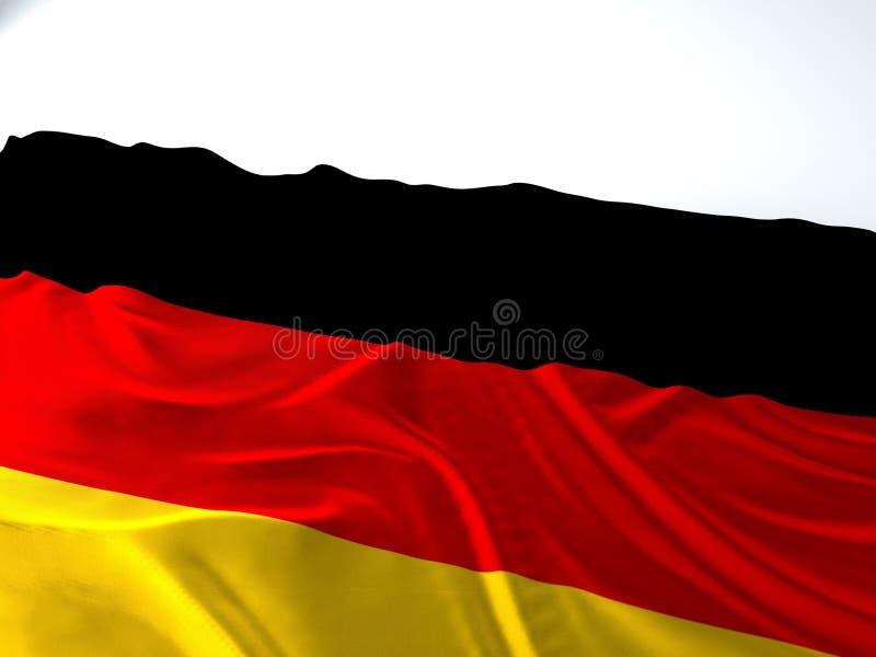Wellenartig bewegende deutsche Flagge lizenzfreies stockfoto