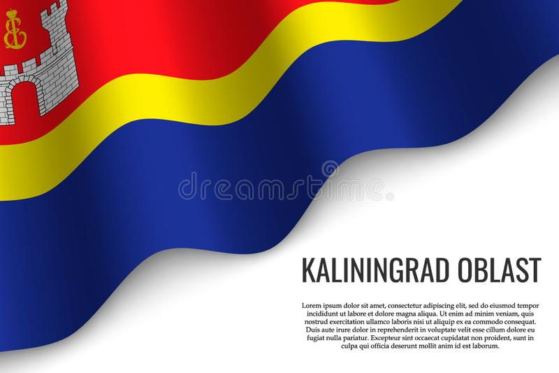 wellenartig bewegende Flagge auf transparentem Hintergrund stock abbildung