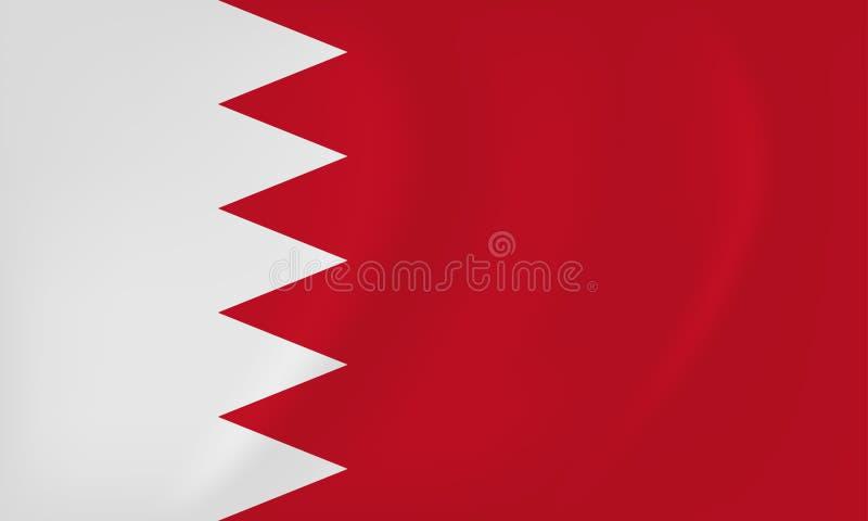 Wellenartig bewegende Flagge Bahrains lizenzfreie abbildung