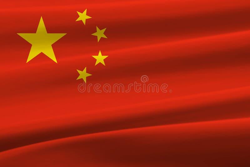 Wellenartig bewegende Flagge Chinas stockfoto