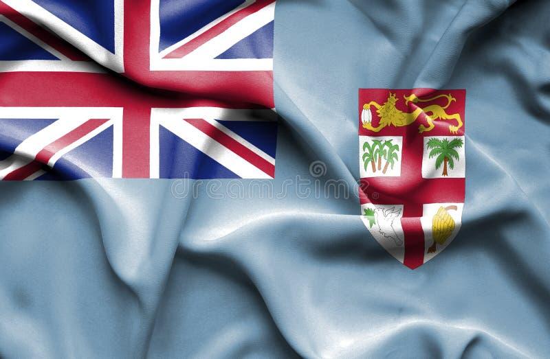 Wellenartig bewegende Flagge Fidschis stock abbildung