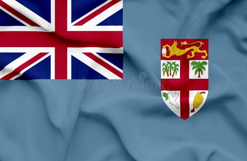 Wellenartig bewegende Flagge Fidschis vektor abbildung