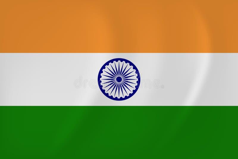 Wellenartig bewegende Flagge Indiens vektor abbildung