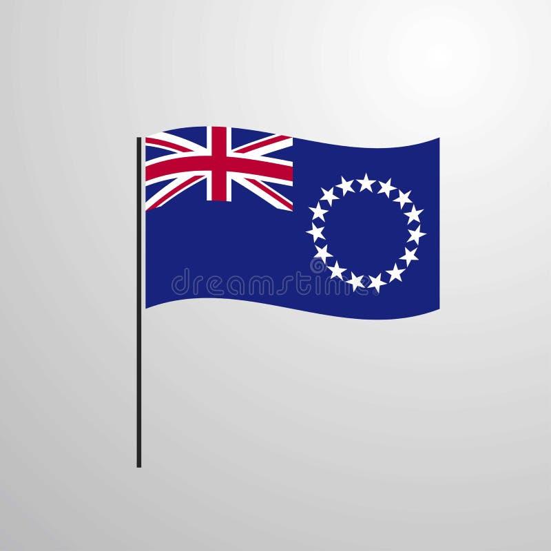 Wellenartig bewegende Flagge Koch-Islands stock abbildung