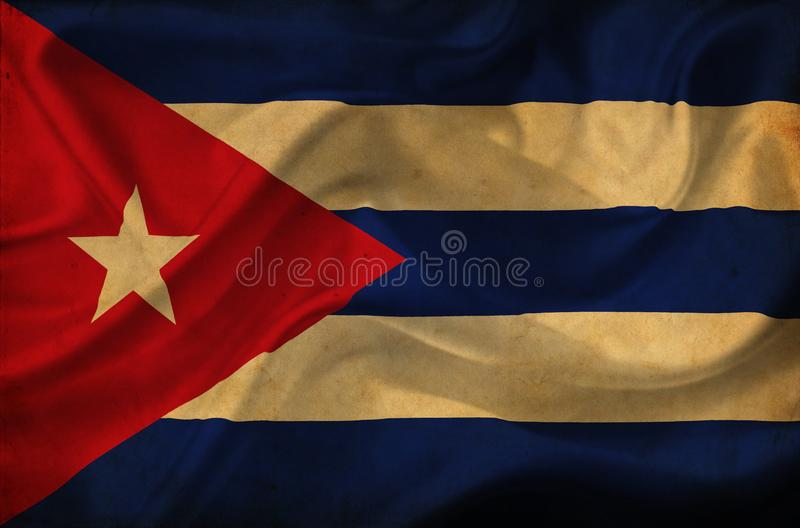 Wellenartig bewegende Flagge Kubas stock abbildung