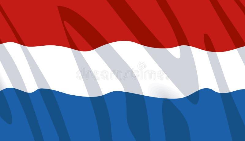 Wellenartig bewegende Markierungsfahne der Niederlande stock abbildung