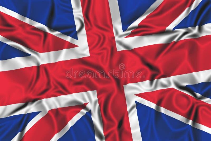 Wellenartig bewegende Markierungsfahne des Vereinigten Königreichs stock abbildung