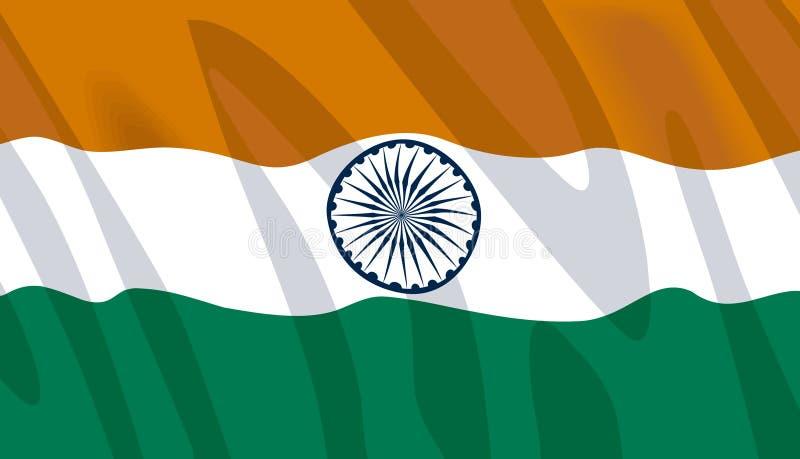 Wellenartig bewegende Markierungsfahne von Indien lizenzfreie abbildung