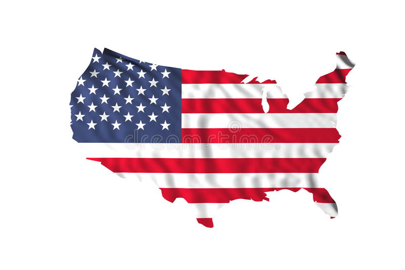Wellenartig bewegende USA-Markierungsfahne lizenzfreies stockbild