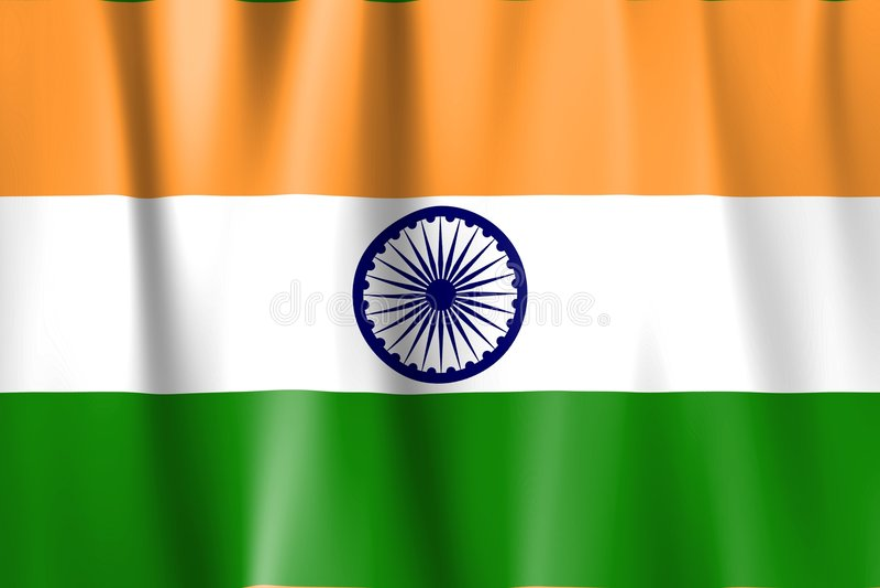 Wellenartig bewogene Indien-Markierungsfahne stock abbildung