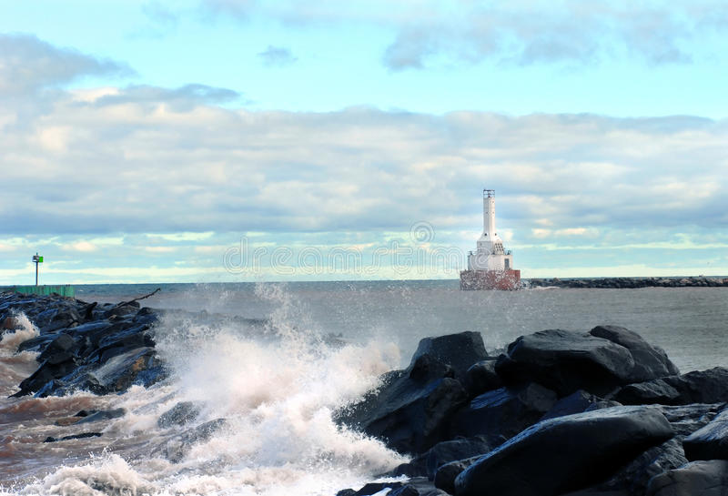 Wellenbrecher Portage-Kanal lizenzfreie stockfotografie