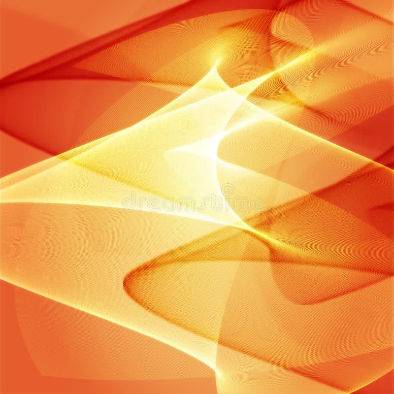 Wellenförmige glühende Farben lizenzfreie abbildung