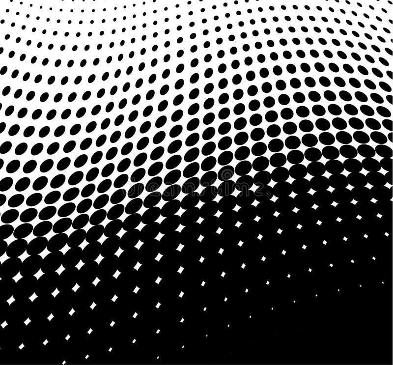 Wellenförmige Punkte stock abbildung