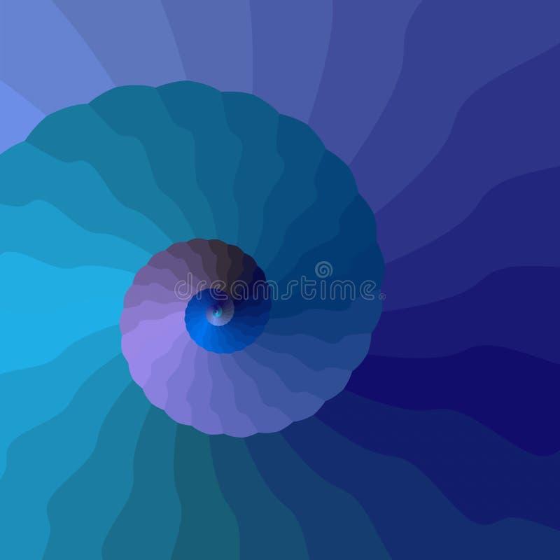 Wellenförmige Spirale vektor abbildung
