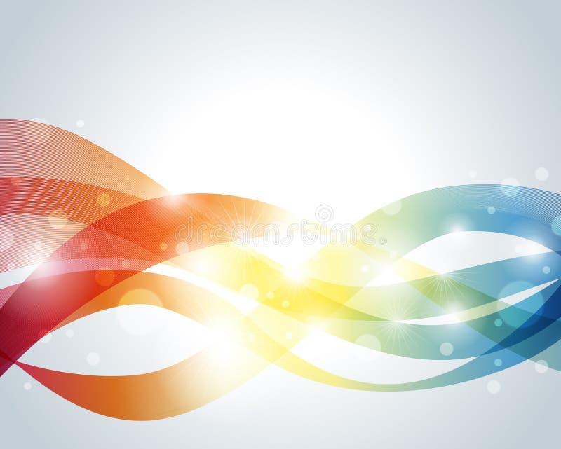 Download Wellenförmiger Abstrakter Hintergrund Vektor Abbildung - Illustration von rauch, leuchte: 27734555