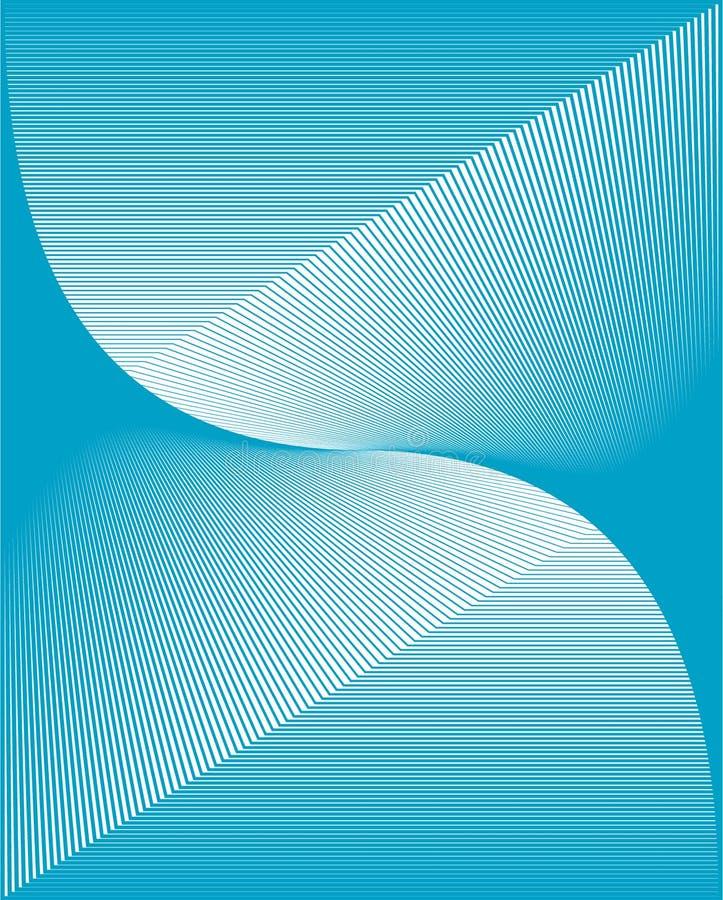 Wellenförmiger blauer vektorhintergrund stock abbildung