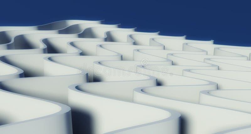 wellenförmiger Hintergrund 3d vektor abbildung