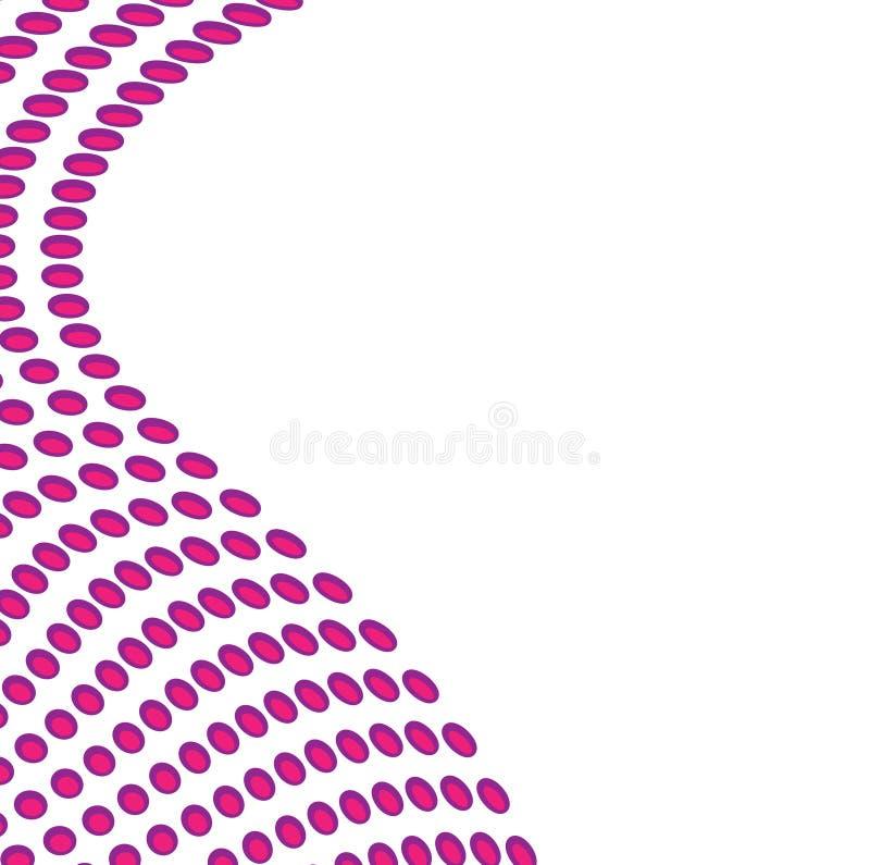 Wellenförmiger Punkt-Plan stock abbildung