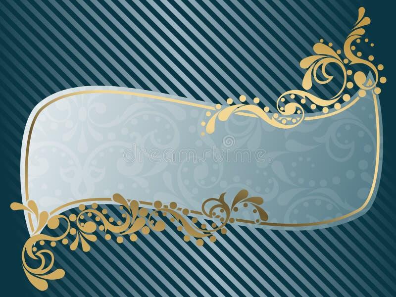 Wellenförmiges Weinlese Victorianfeld lizenzfreie abbildung