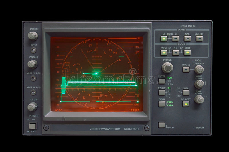 Wellenform-Überwachungsgerät stockfotos
