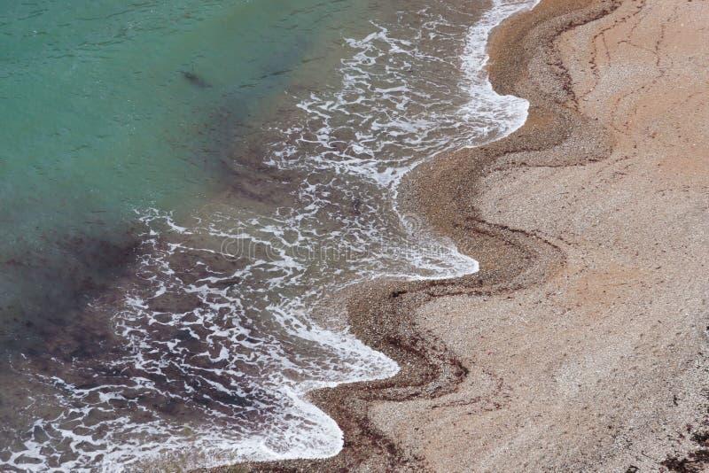 Wellenmuster im Sand stockfoto