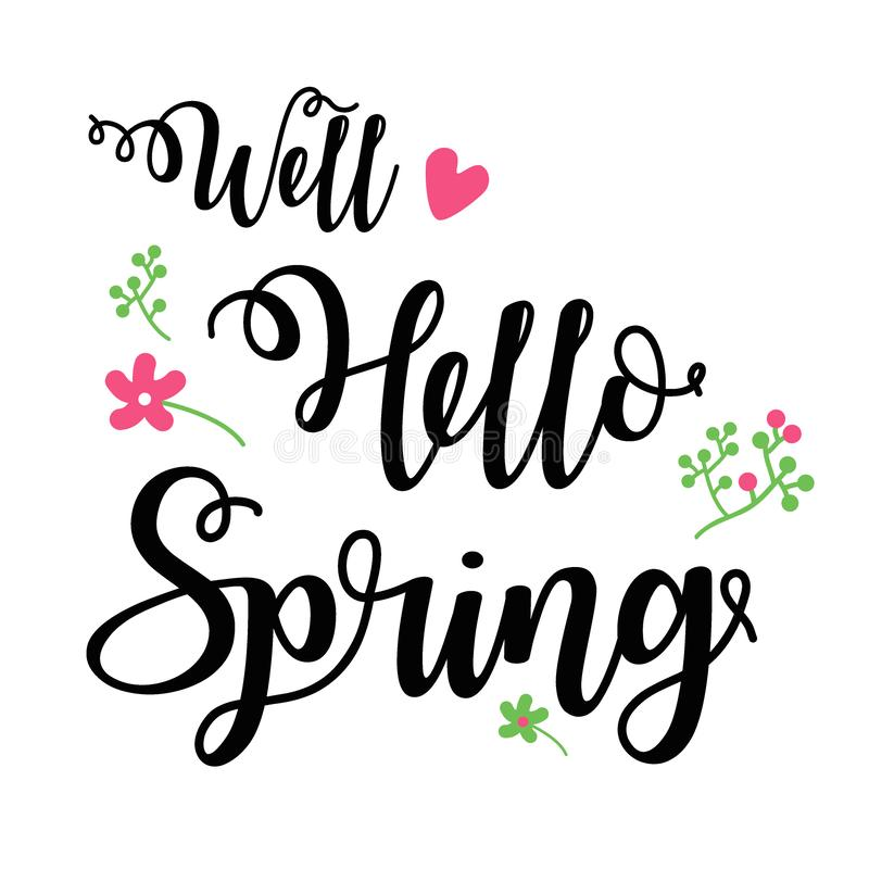 WellHelloSpring stock illustration