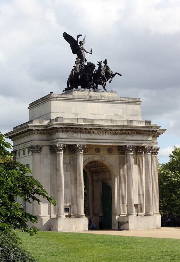 Wellington Arch London England stock photo