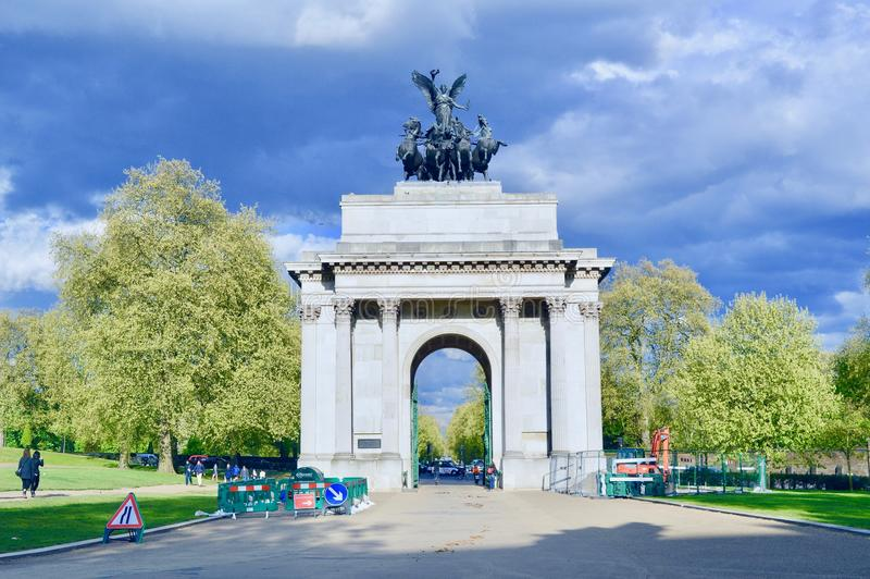 Wellington Arch Memorial photographie stock