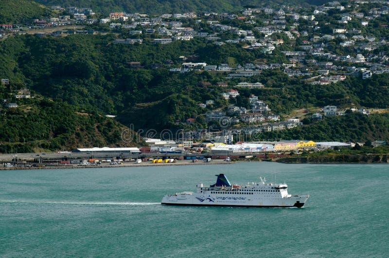 Veerboot aan Wellington royalty-vrije stock foto