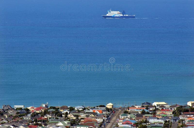 Veerboot aan Wellington stock afbeeldingen