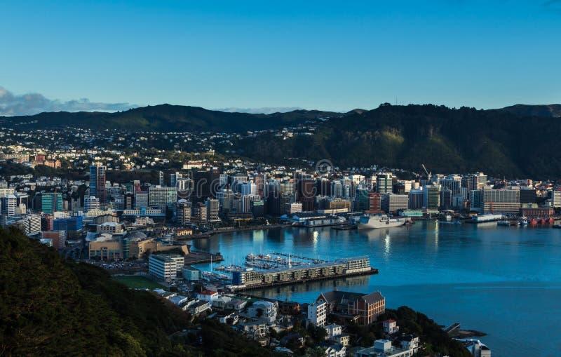 Wellington City foto de archivo