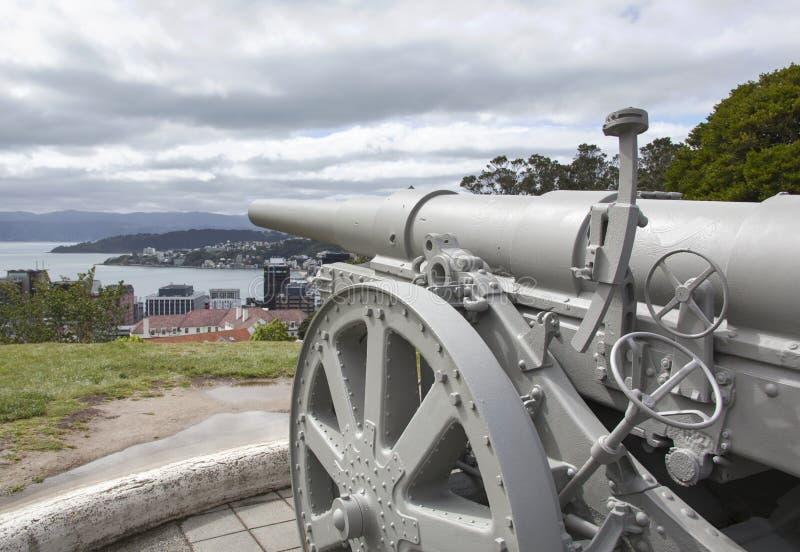Wellington City Cannon fotos de archivo