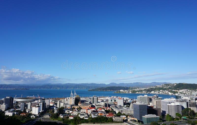 Wellington City View immagini stock
