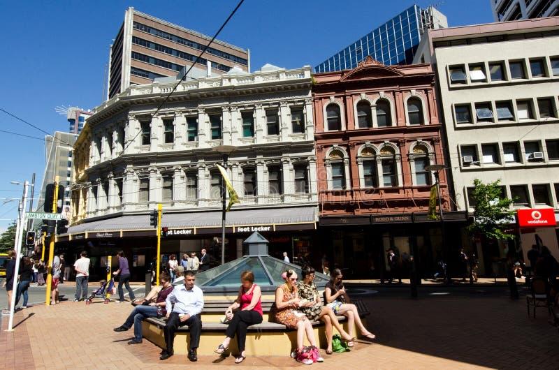 Paysage urbain de Wellington photographie stock libre de droits