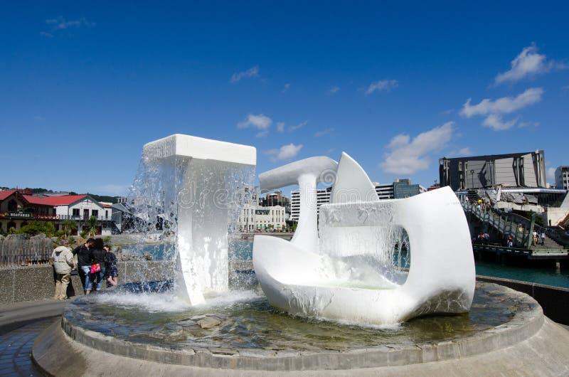 Lagune de bord de mer de Wellington image libre de droits